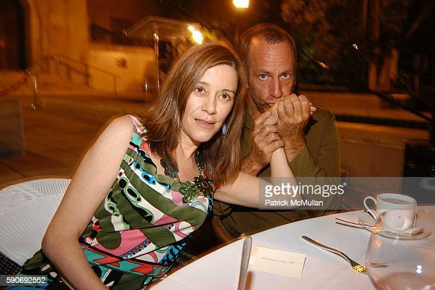 Paige Powell and Kenny Scharf attend Basquiat Exhibition Preview at MOCA on July 15 2005 in Los Angeles CA
