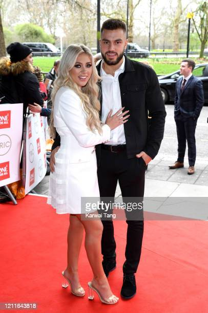Paige Turley and Finley Tapp attend the TRIC Awards 2020 at The Grosvenor House Hotel on March 10, 2020 in London, England.