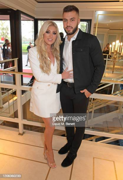 Paige Turley and Finn Tapp arrive at the TRIC Awards 2020 at The Grosvenor House Hotel on March 10, 2020 in London, England.