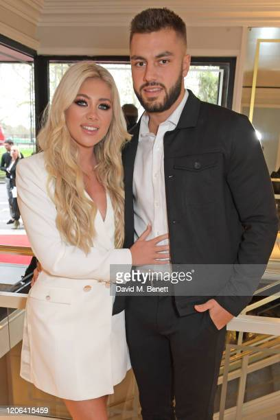 Paige Turley and Finn Tapp arrive at the TRIC Awards 2020 at The Grosvenor House Hotel on March 10 2020 in London England