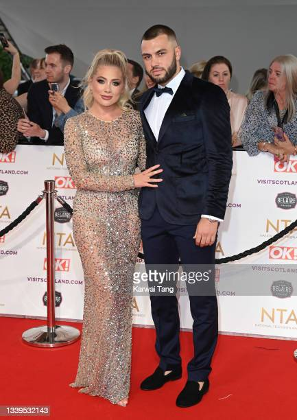 Paige Turley and Finn Tapp attend the National Television Awards 2021 at The O2 Arena on September 09, 2021 in London, England.