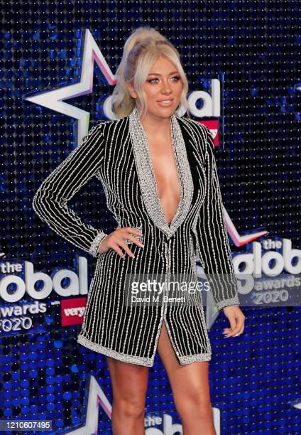 Paige Turley attends The Global Awards 2020 at the Eventim Apollo Hammersmith on March 05 2020 in London England