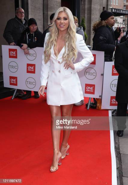Paige Turley attends the TRIC Awards 2020 at The Grosvenor House Hotel on March 10, 2020 in London, England.