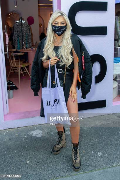 Paige Turley leaving the Nasty Gal FT. Emrata collection launch at Busi Cafe on October 07, 2020 in London, England.