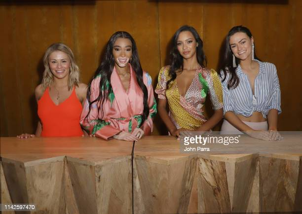Paige Van Zant Winnie Harlow Iais Ribero and Myla Dalbesio attends the Sports Illustrated Swimsuit On Location at Ice Palace on May 10 2019 in Miami...