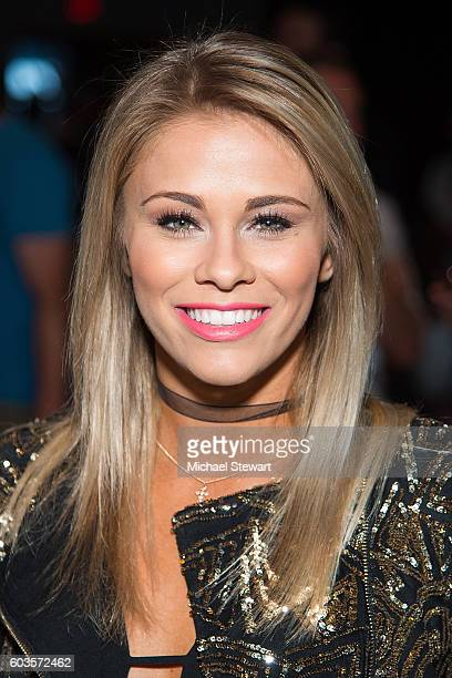 Paige VanZant attends the Jeremy Scott fashion show during September 2016 New York Fashion Week The Shows at The Arc Skylight at Moynihan Station on...