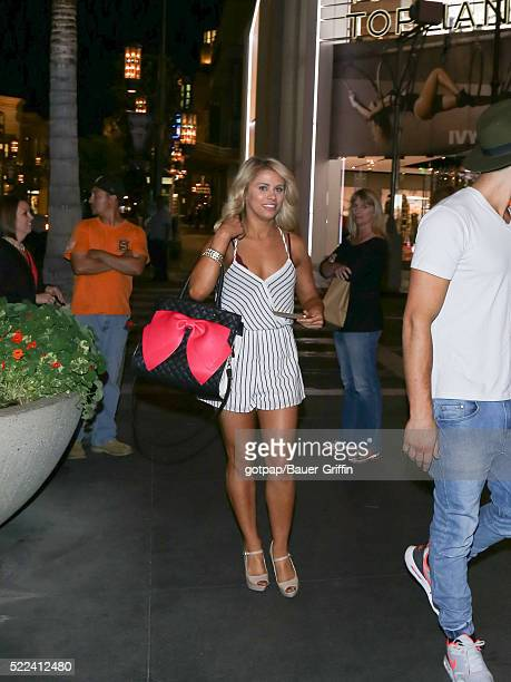 Paige VanZant is seen on April 18 2016 in Los Angeles California