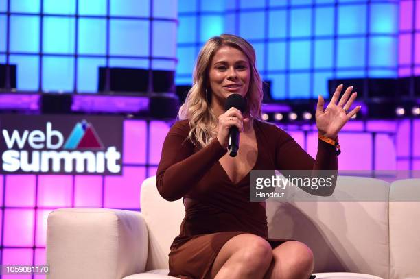 Paige VanZant, UFC, on Centre Stage during day three of Web Summit 2018 at the Altice Arena on November 8, 2018 in Lisbon, Portugal. In 2018, more...