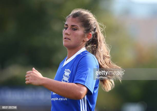 Paige Williams of Birmingham City LFC during Women's Super League 1 match between Arsenal Women FC against Birmingham Ladies at Borehamwood Football...