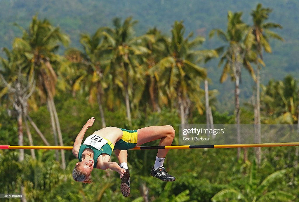 Paige Wilson of Australia jumps in the Girls High Jump during the Athletics at the Apia Park Sports Complex on day two of the Samoa 2015 Commonwealth Youth Games on September 8, 2015 in Apia, Samoa.