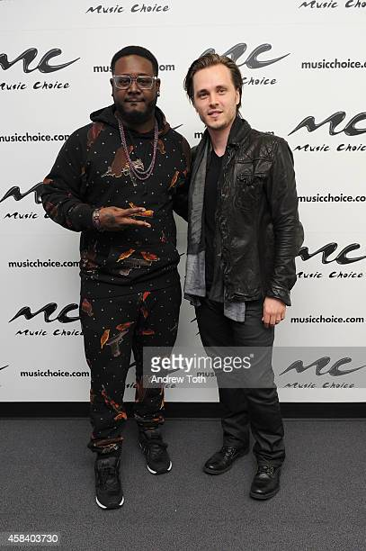 T Pain and Jonathan Jackson visit Music Choice's You A at Music Choice on November 4 2014 in New York City