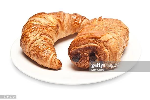 Pain Au Chocolat and Croissant