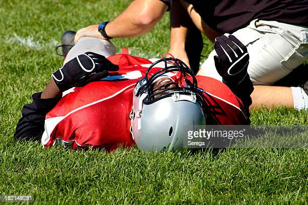 pain in a game - personal injury stock photos and pictures
