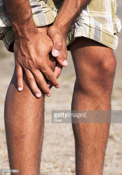 Pain in a knee. marching trauma