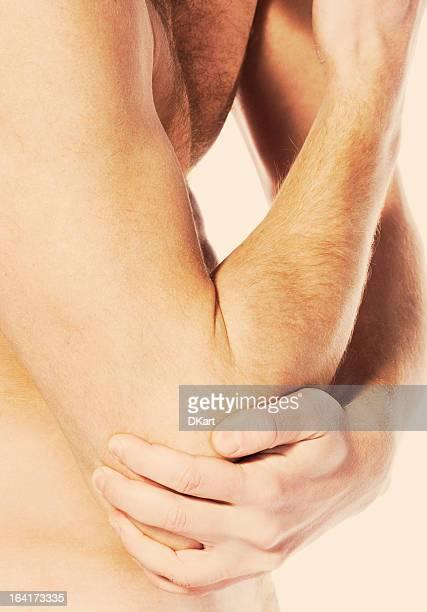 Ellenbogen Schmerzen in joint. sports einem trauma