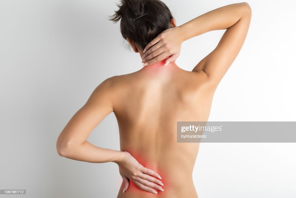 Pain in back : Stock Photo