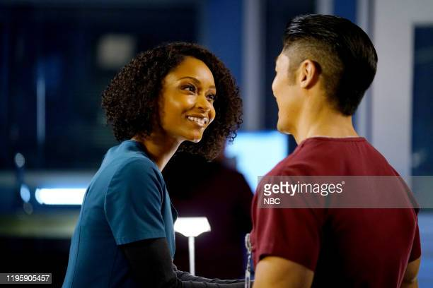 MED Pain Is For The Living Episode 513 Pictured Yaya DaCosta as April Sexton Brian Tee as Dr Ethan Choi