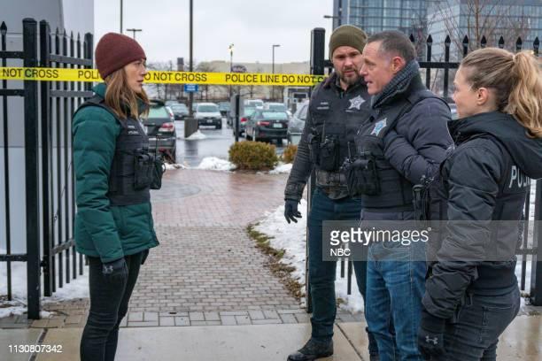D Pain Killer Episode 617 Pictured Marina Squerciati as Kim Burgess Patrick John Flueger as Adam Ruzek Jason Beghe as Hank Voight Tracy Spiridakos as...