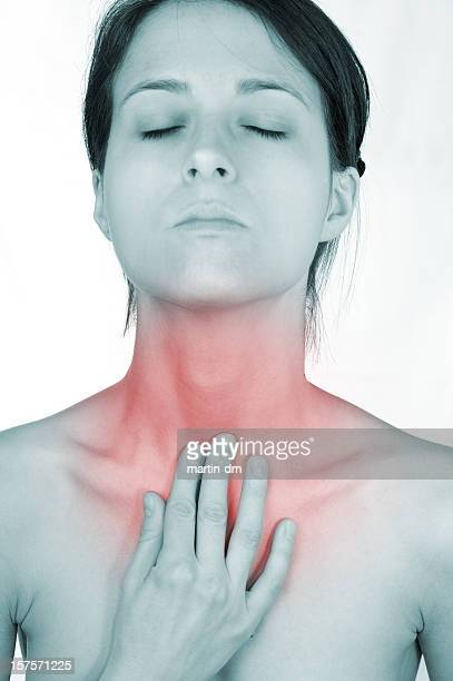 pain - thyroid gland stock pictures, royalty-free photos & images