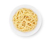 Pain Spaghetti on Plate