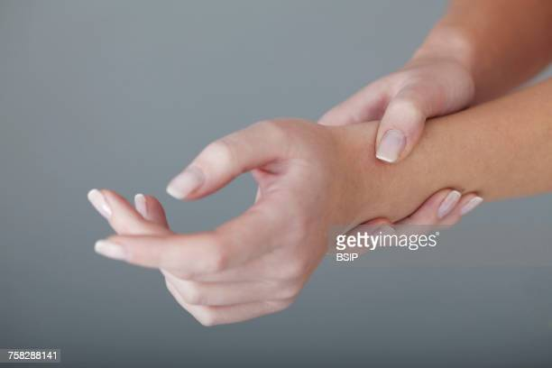 Painful wrist in a woman