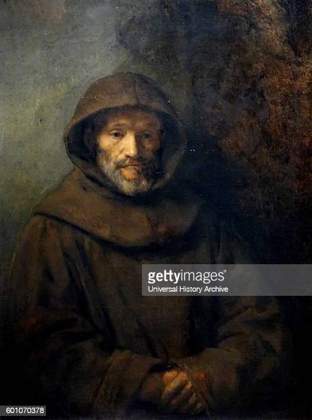 Paining titled 'A Franciscan Friar' by Rembrandt Harmenszoon van Rijn a Dutch painter and etcher Dated 17th Century