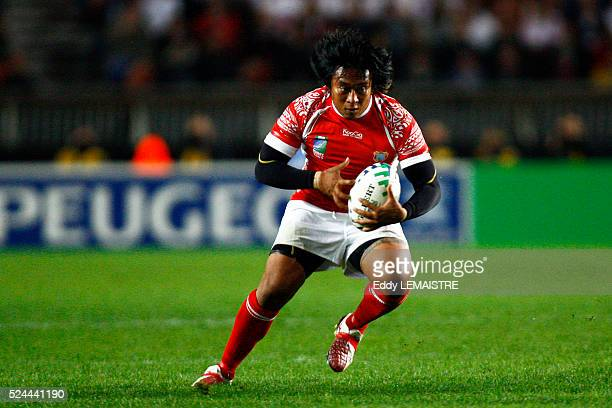 Paino Hehea during the 2007 IRB World Cup rugby match between England and Tonga.