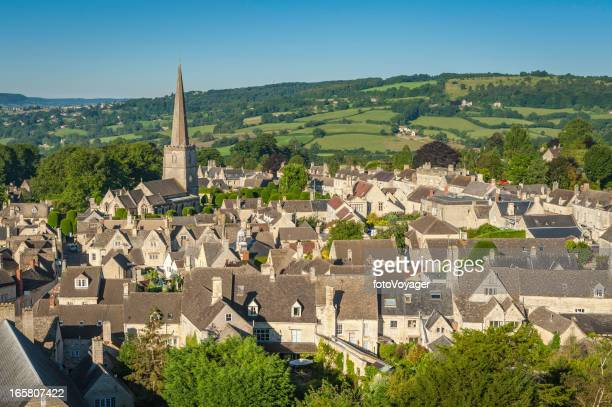 Painswick picturesque Cotswold village country church UK