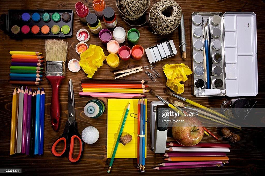 Paint and brush : Stock Photo