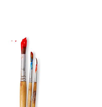 paint brushes isolated on white background 179248864