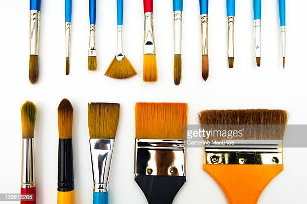 paint brushes - catherine macbride stock pictures, royalty-free photos & images