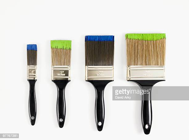 paint brushes - pinsel stock-fotos und bilder