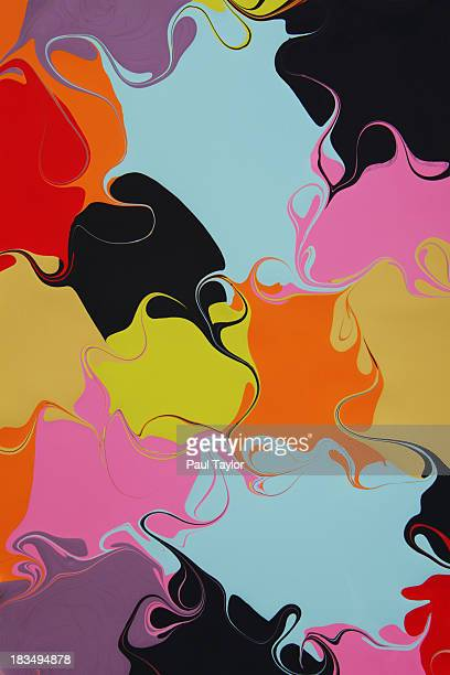 Paint Color Fields Swirled Together