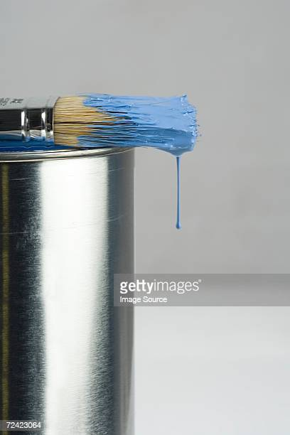Paint dripping of a paintbrush