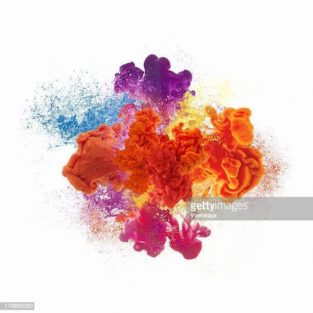 paint explosion - water stock pictures, royalty-free photos & images