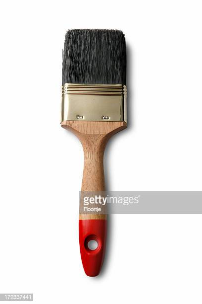 paint: paint brush isolated on white background - paintbrush stock pictures, royalty-free photos & images