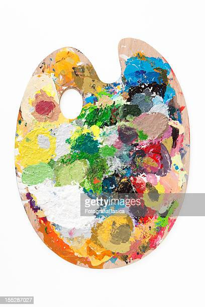 paint palette - artist's palette stock photos and pictures
