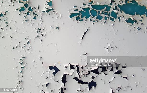 paint peeling off a ceiling in an interior setting - chipping stock pictures, royalty-free photos & images
