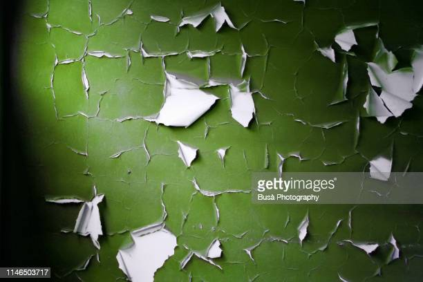 paint peeling off a plaster wall in an interior setting - humid stock pictures, royalty-free photos & images