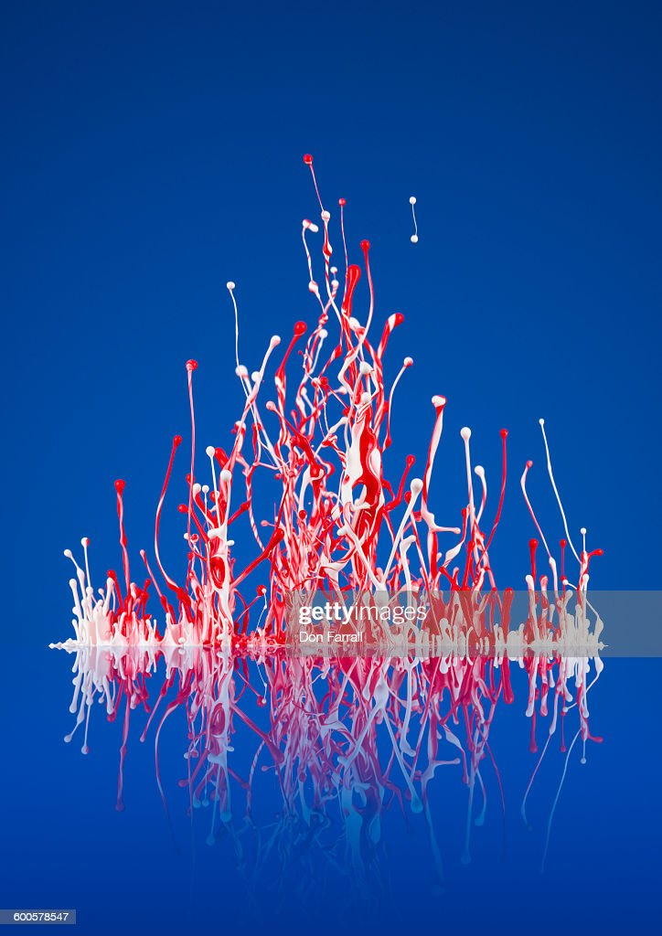 Paint Splash Red White And Blue Stock Foto Getty Images
