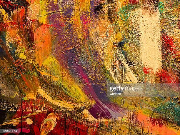 Salpicado fondo de pintura