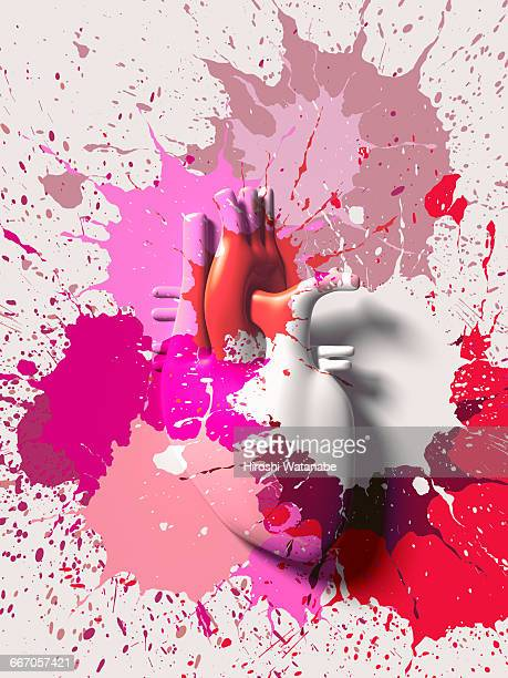 Paint splattered Heart