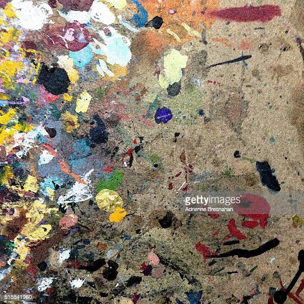 Paint Splatters on Cardboard