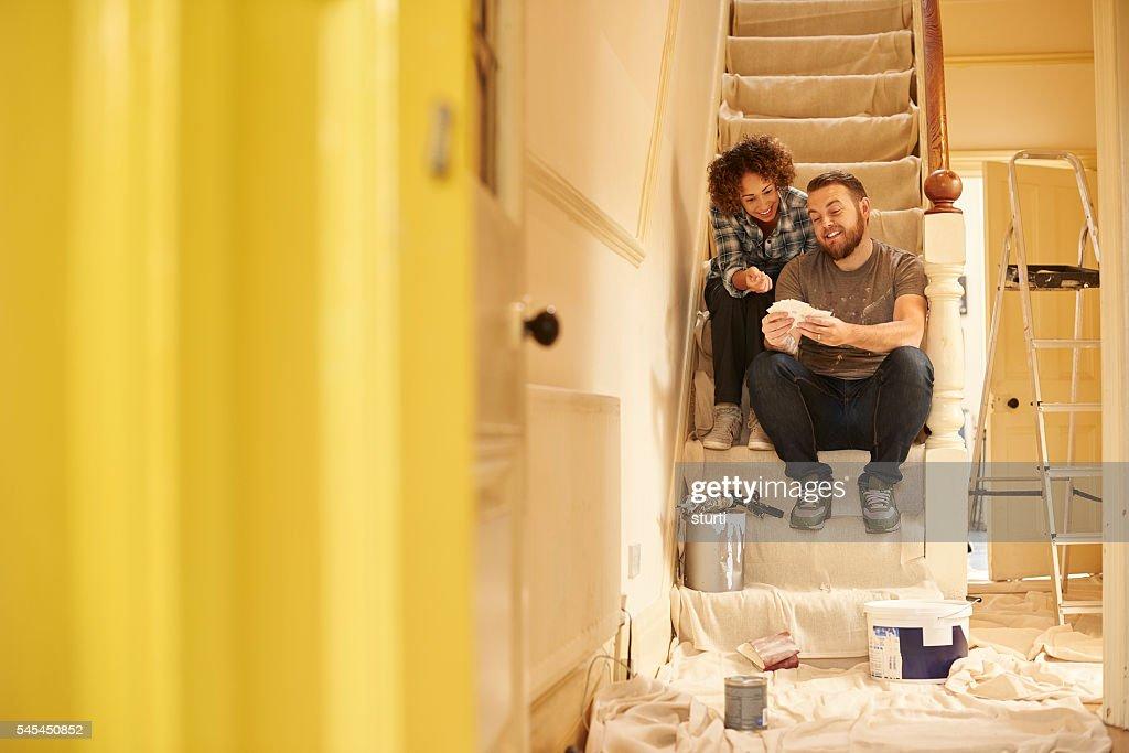 paint swatch couple : Stock Photo