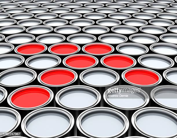 paint tins, abstract - andrew dernie foto e immagini stock