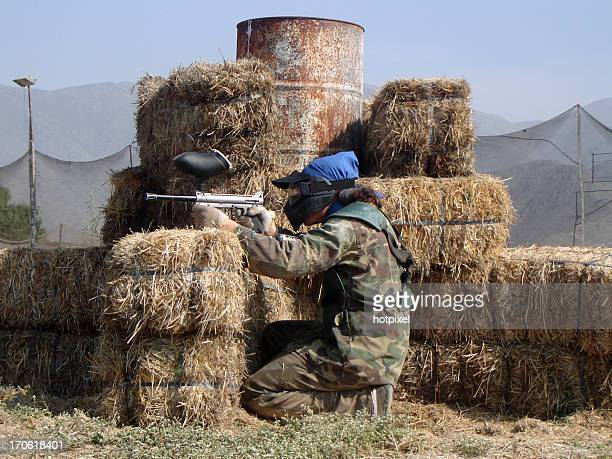 paintball shooter - guerrilla warfare stock pictures, royalty-free photos & images