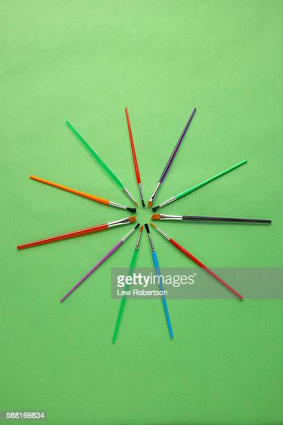 Paintbrushes in a Circle