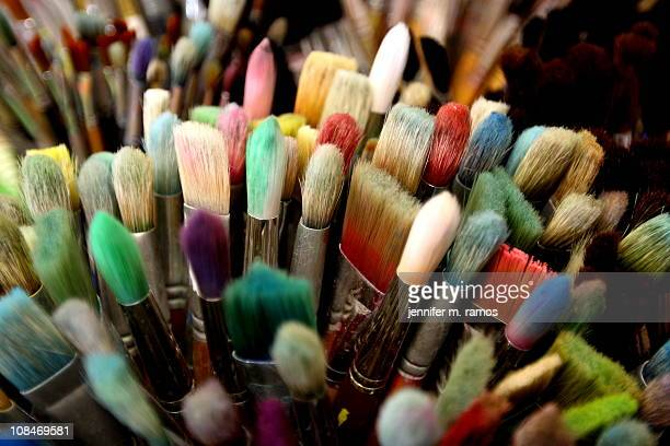 Paintbrushes in an Art Room