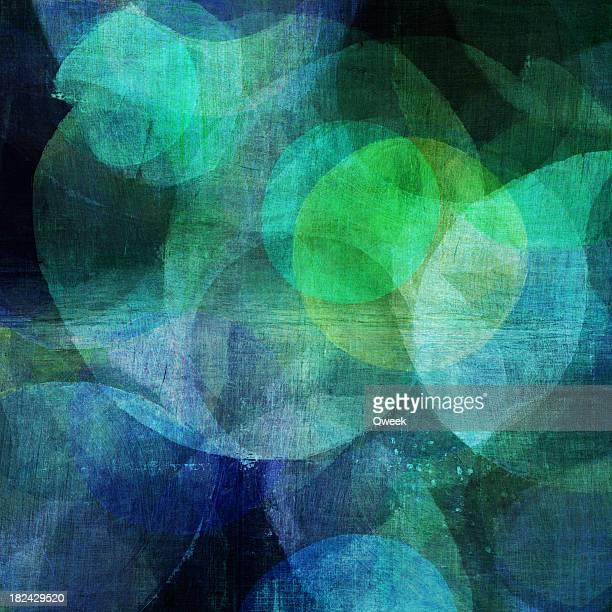 Pintura azul y verde círculos