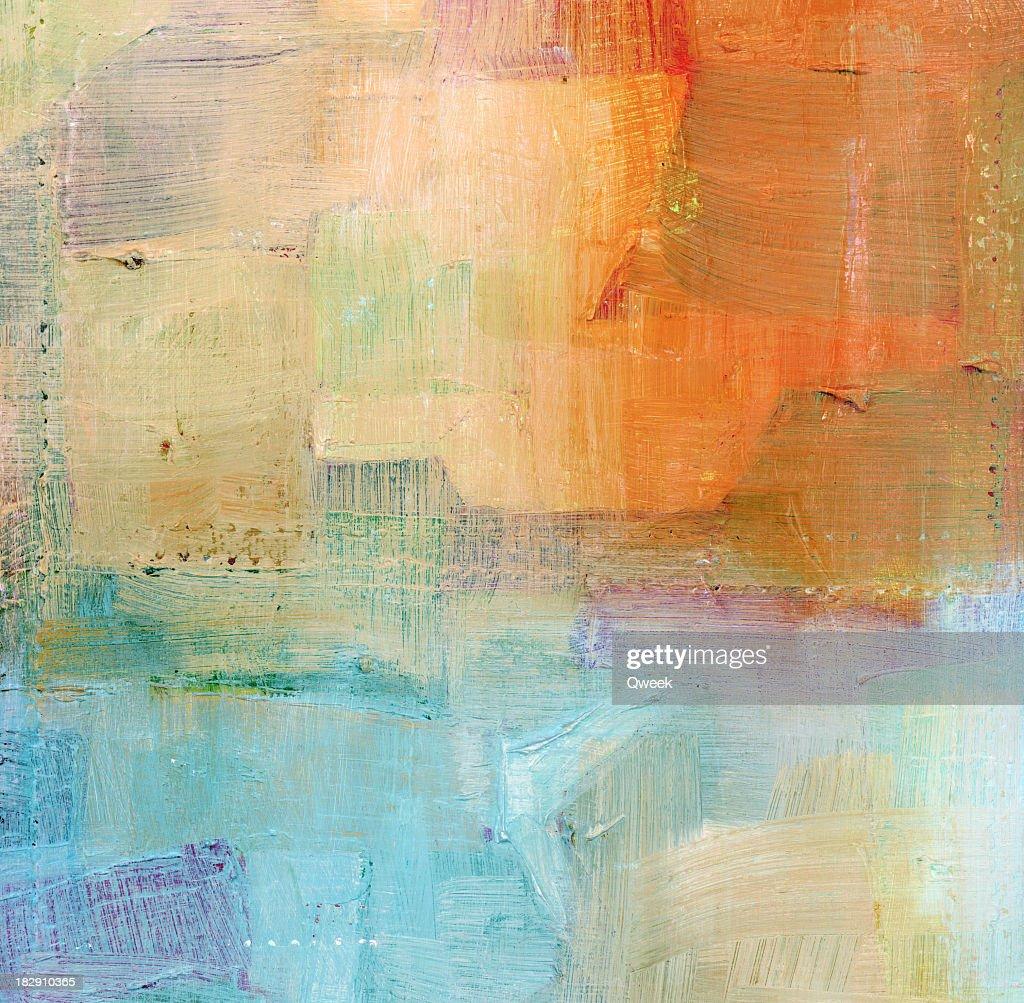 Painted Blue and Orange Background : Stock Photo